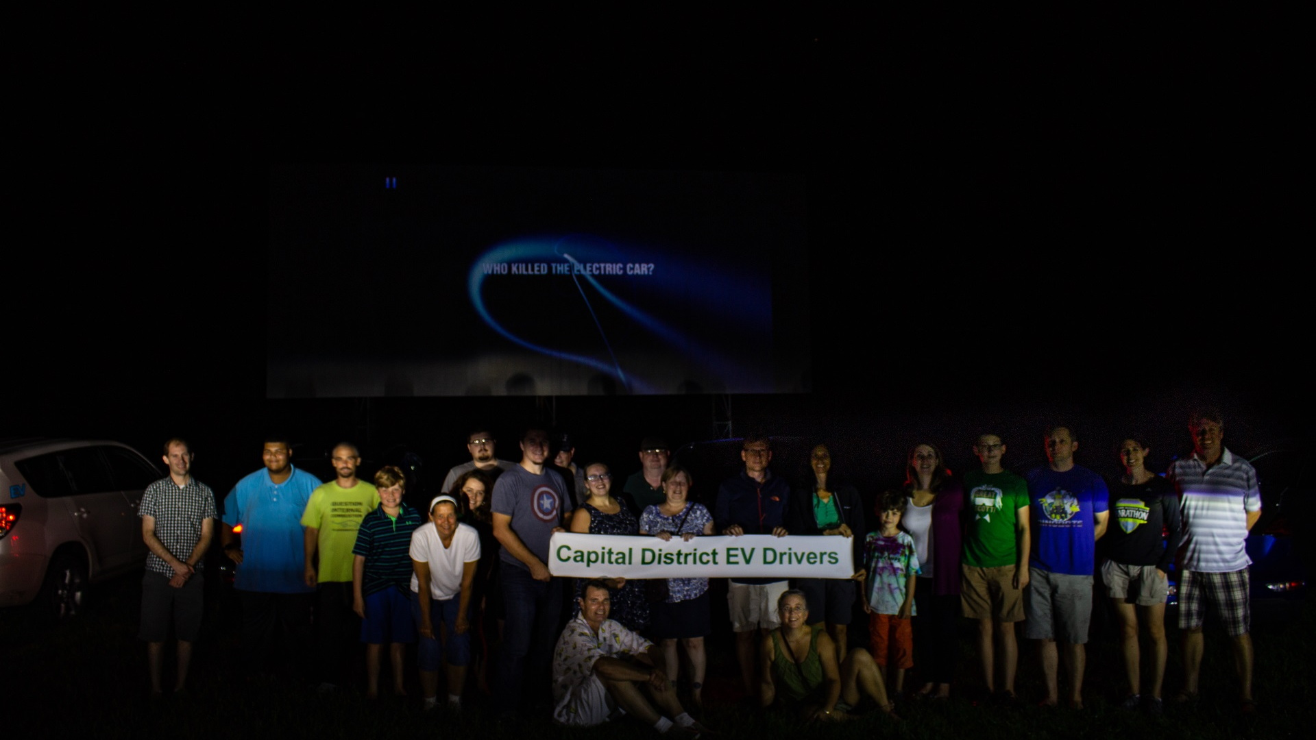 Capital District EV Drivers drive-in movie night in Greenville, NY [CREDIT: Erik Smits]