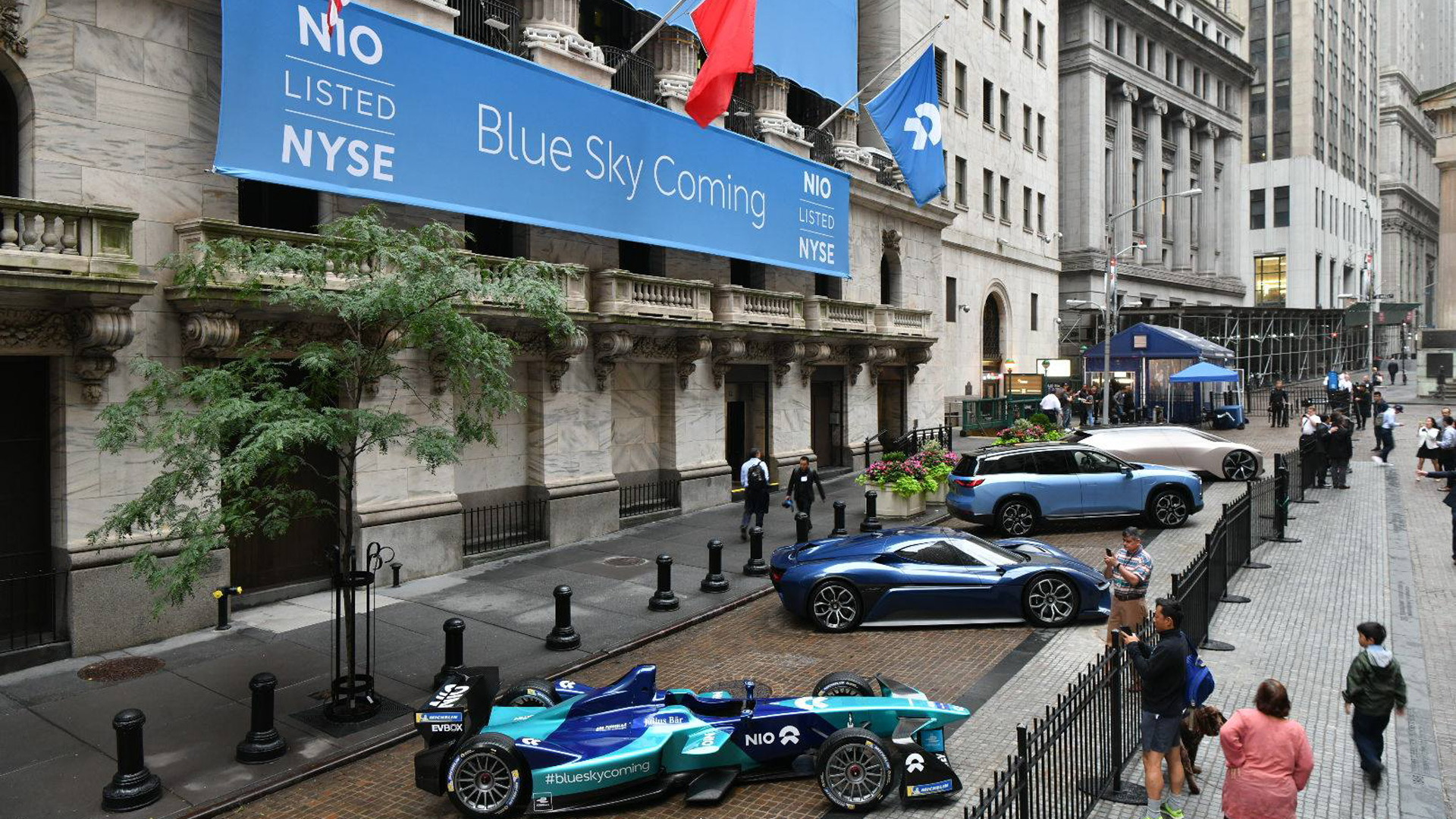 Nio shares start trading on New York Stock Exchange on September 12, 2018