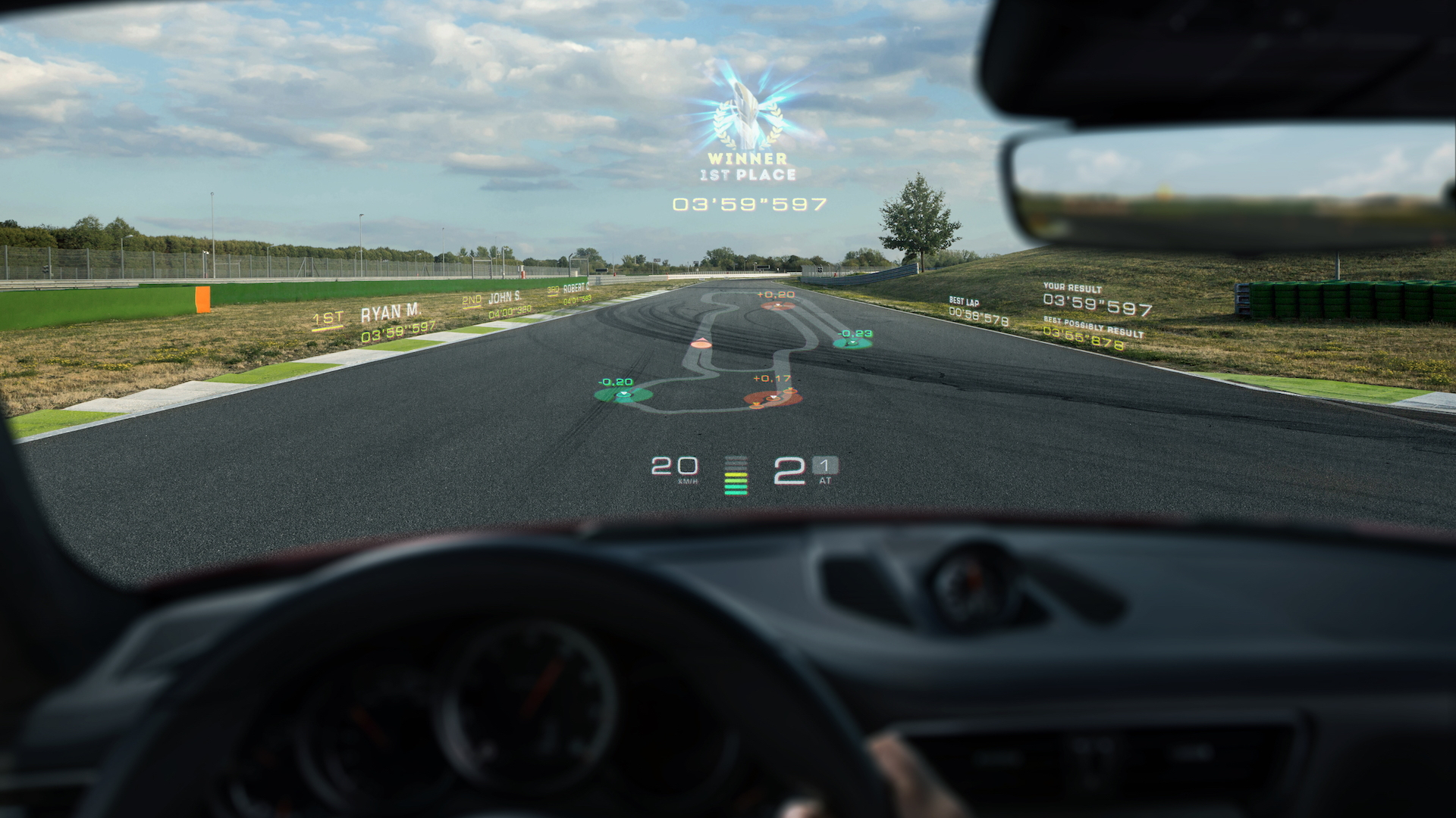 Porsche Augmented Reality Infotainment from WayRay