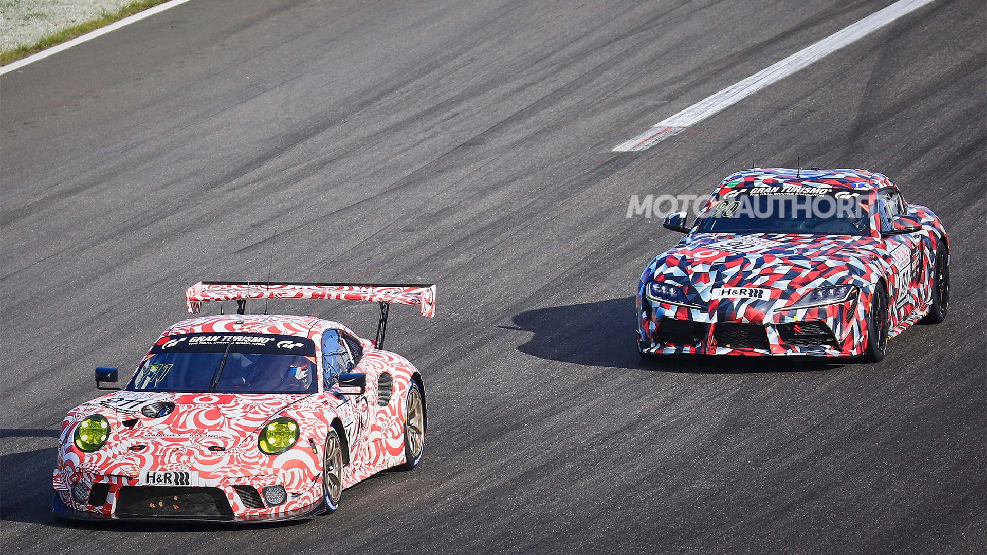 2020 Toyota Supra SP8T VLN race car - Image via S. Baldauf/SB-Medien