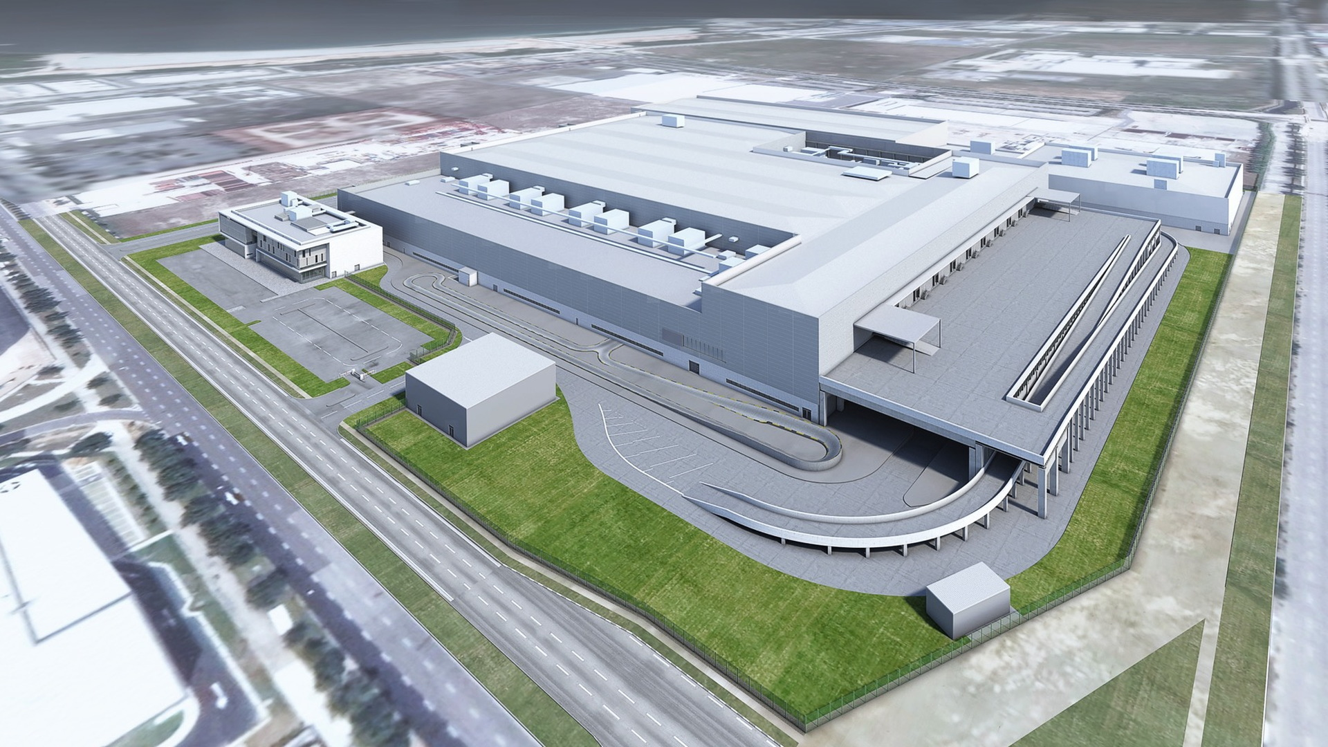 Dyson Automotive Manufacturing facility  -  Singapore  -  rendering