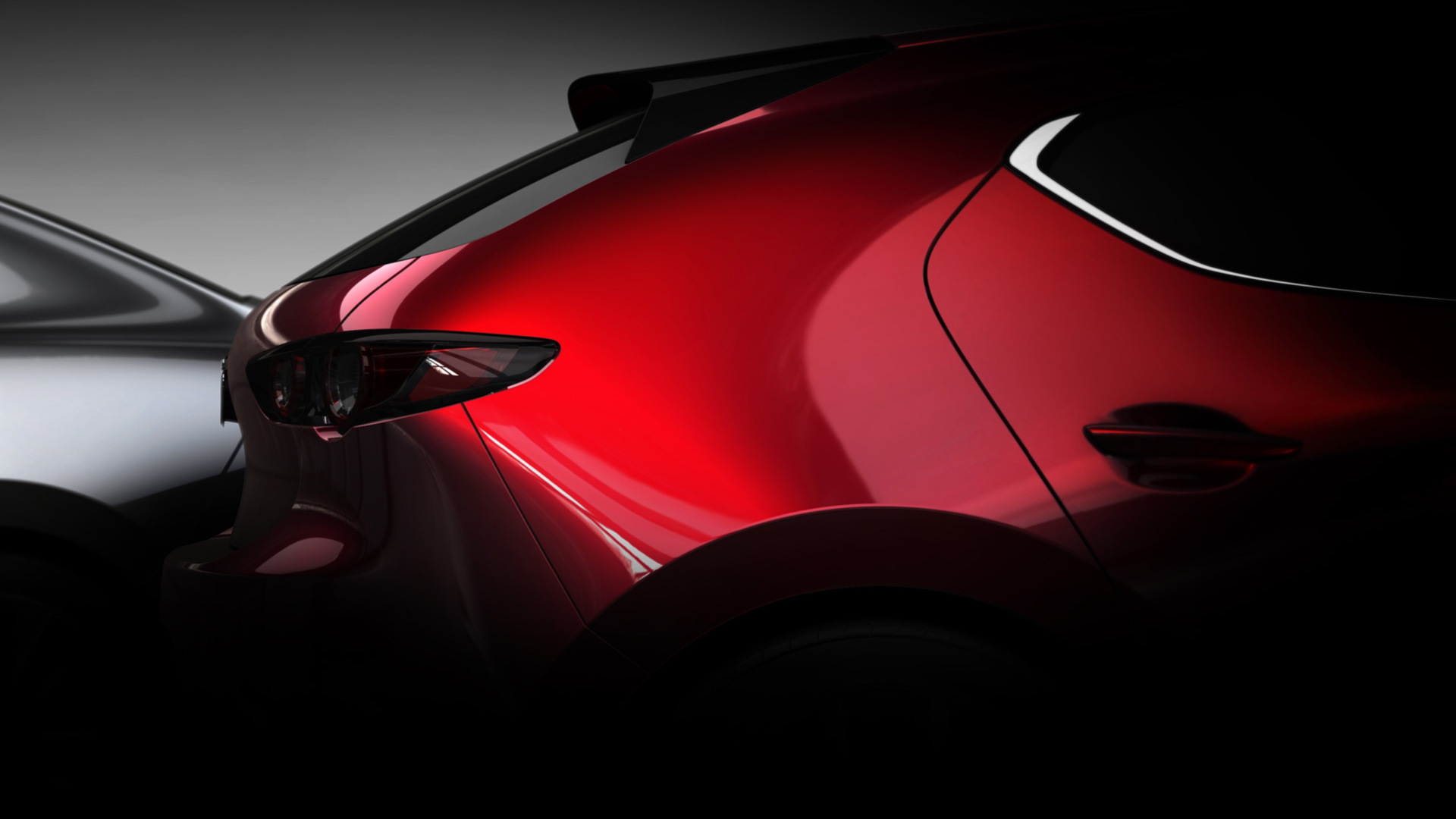Teaser for next-gen Mazda 3 debuting at 2018 Los Angeles auto show
