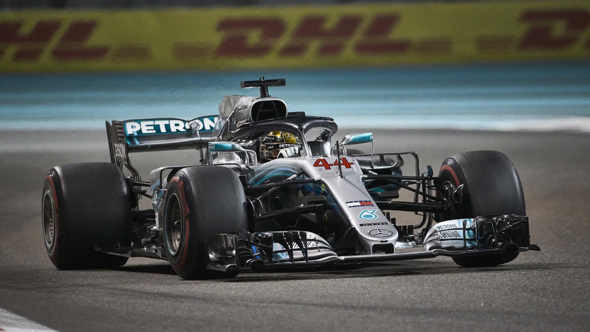 Mercedes-AMG's Lewis Hamilton at the 2018 Formula 1 Abu Dhabi Grand Prix