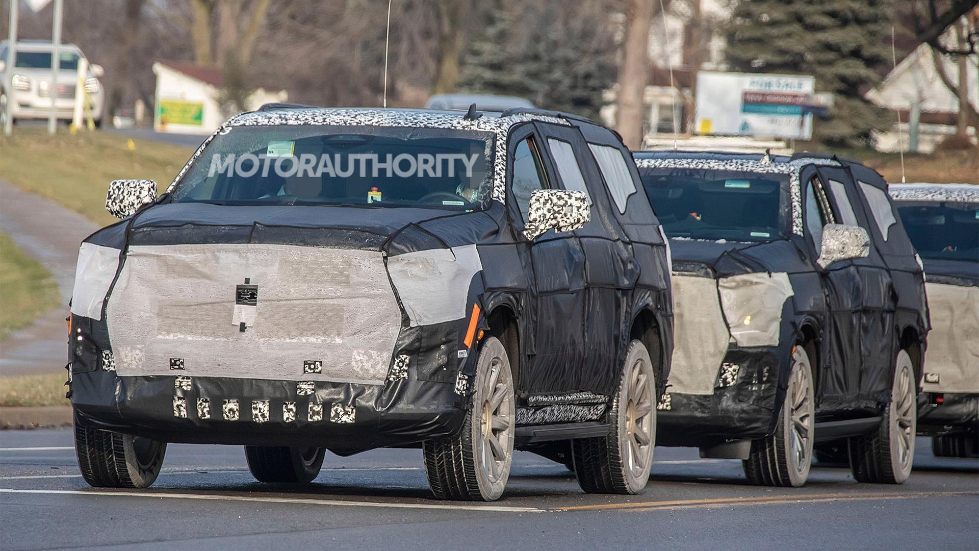 2021 Cadillac Escalade spy shots - Image via S. Baldauf/SB-Medien