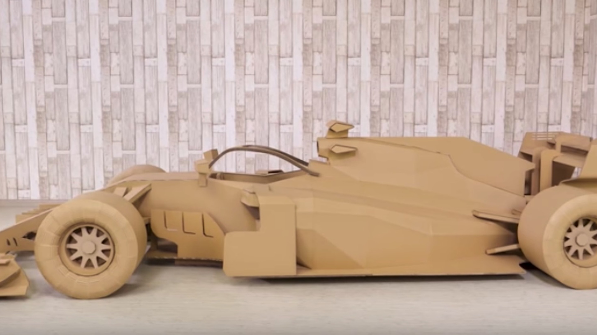 F1 car made from cardboard