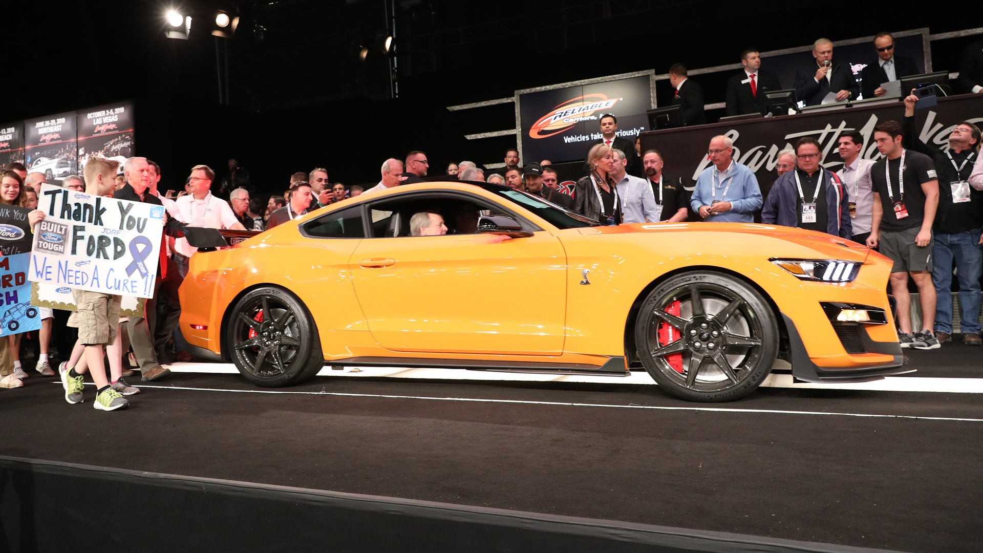 Auction of 2020 Ford Mustang Shelby GT500 with VIN ending in 001 on January 18, 2019