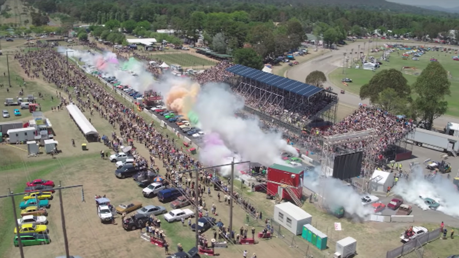 Australians retake biggest burnout world record at Summer Nationals 2019