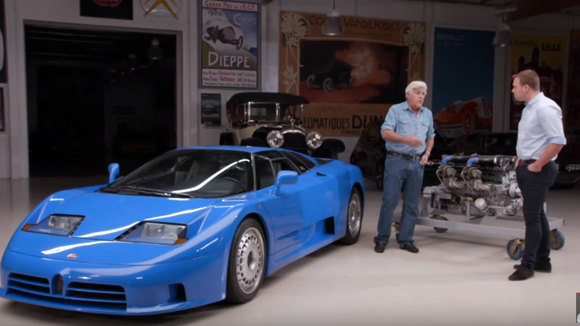 Bugatti EB110 at Jay Leno's Garage