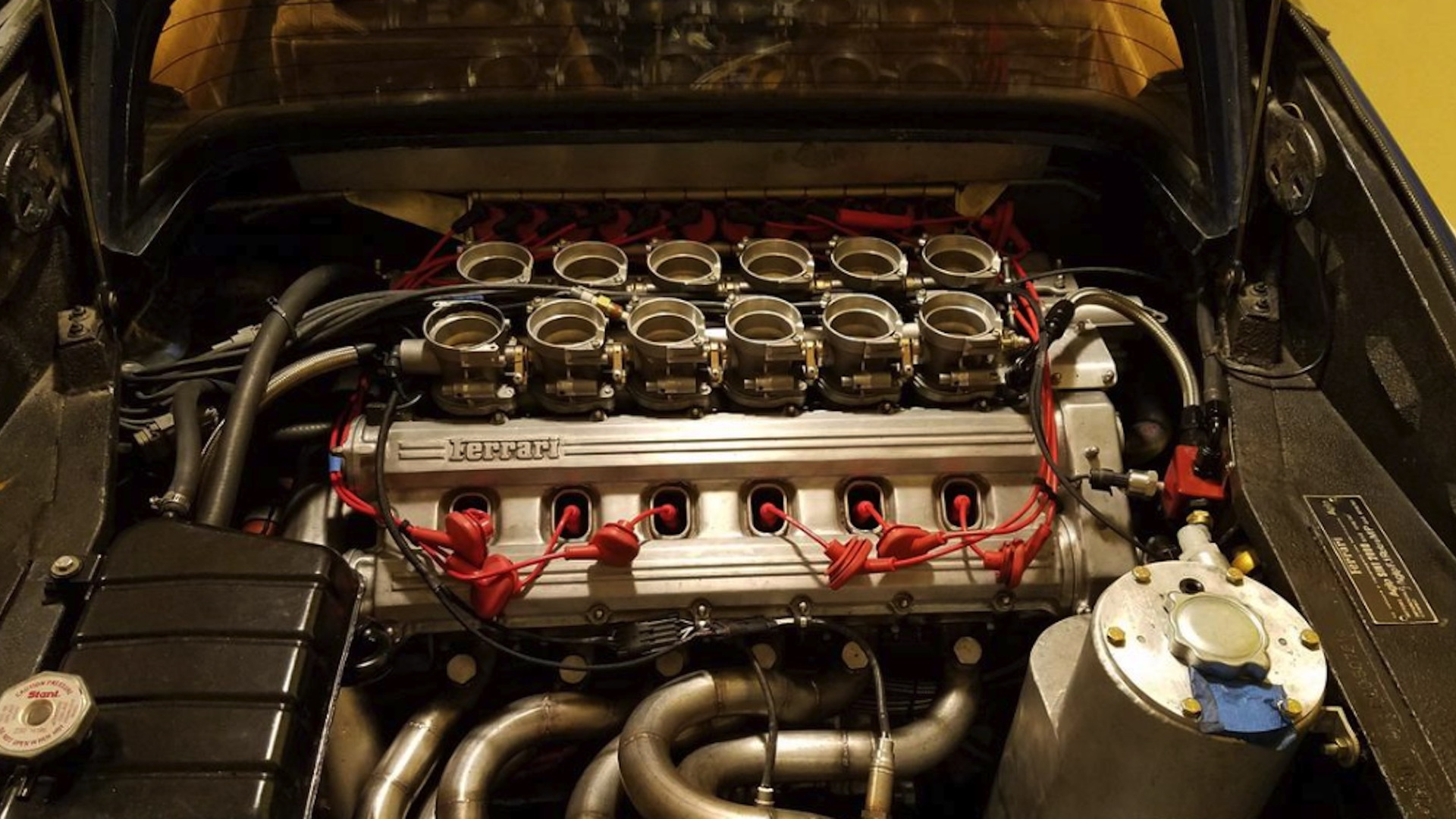 Ferrari 308 GTS with V-12 swap and Testarossa heads