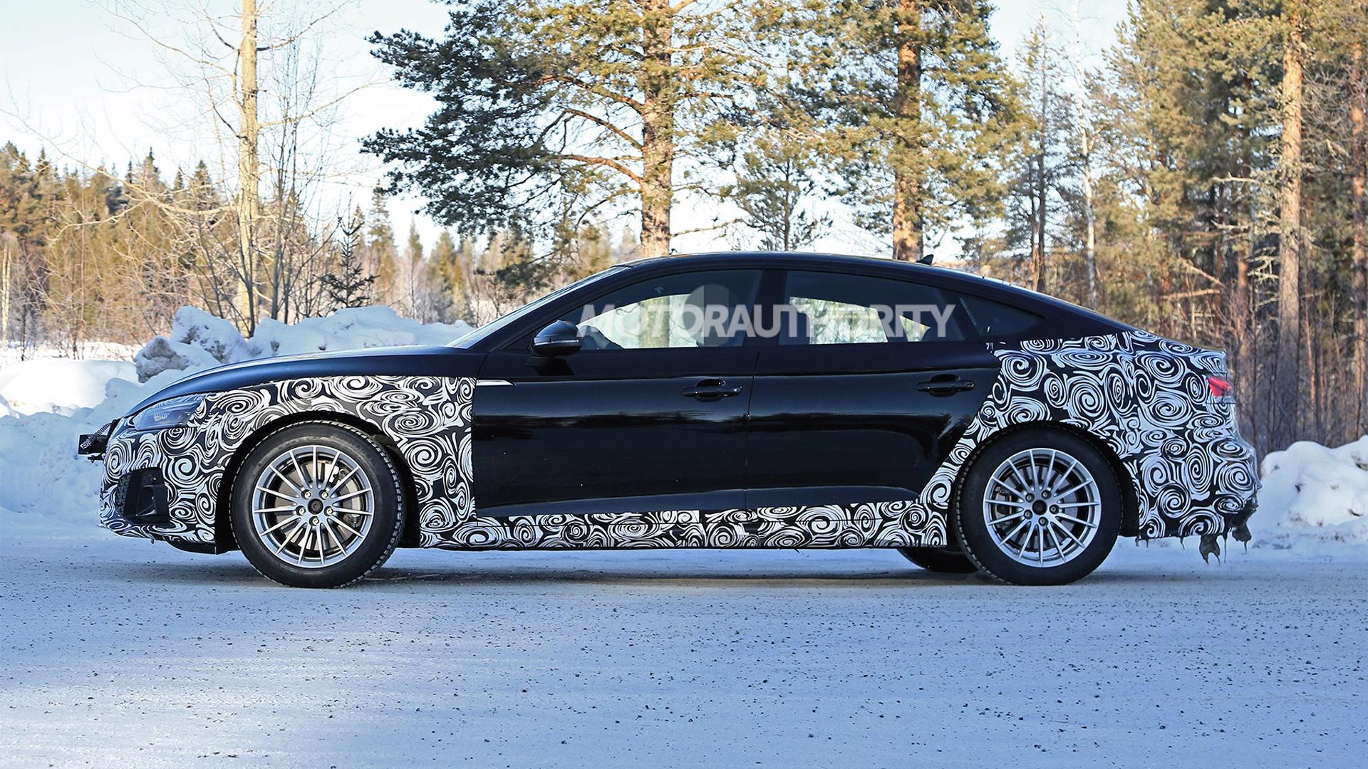 2021 Audi A5 Sportback facelift spy shots - Image via S. Baldauf/SB-Medien