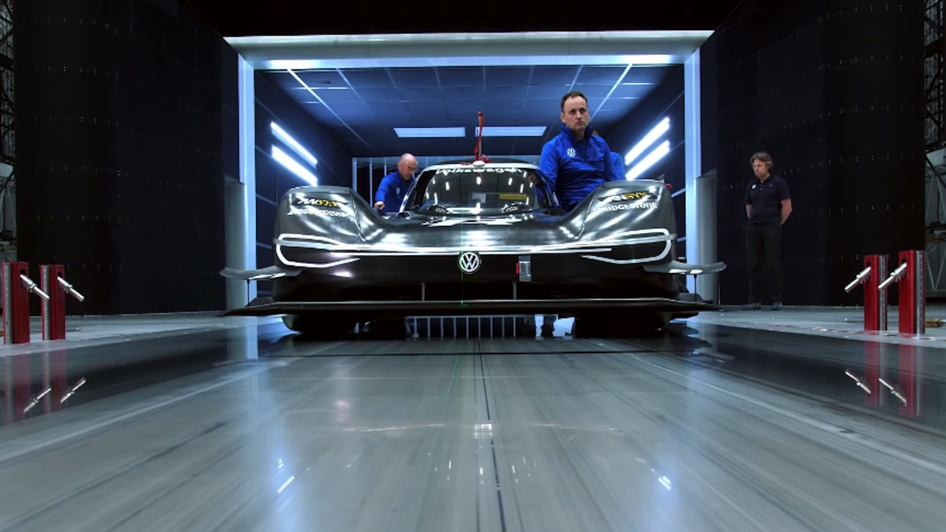 VW ID R in the wind tunnel