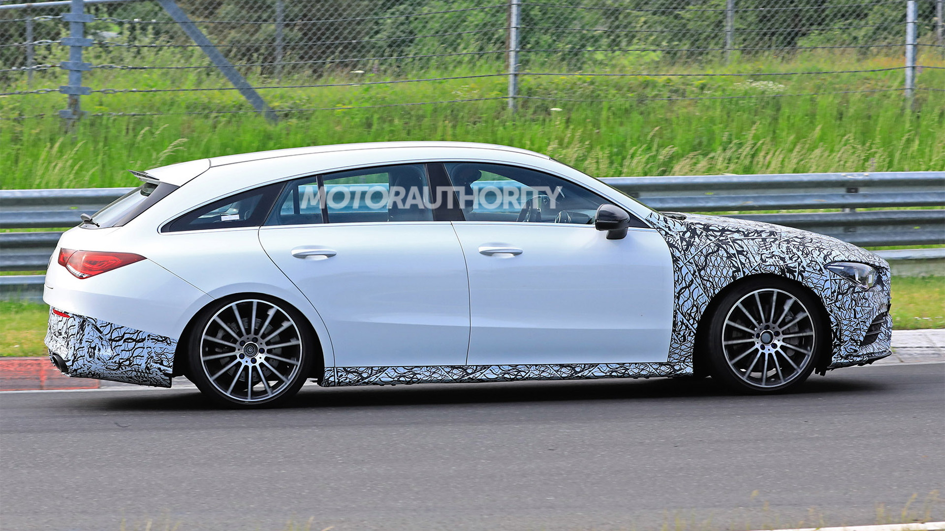 2020 Mercedes-AMG CLA45 Shooting Brake spy shots - Image via S. Baldauf/SB-Medien