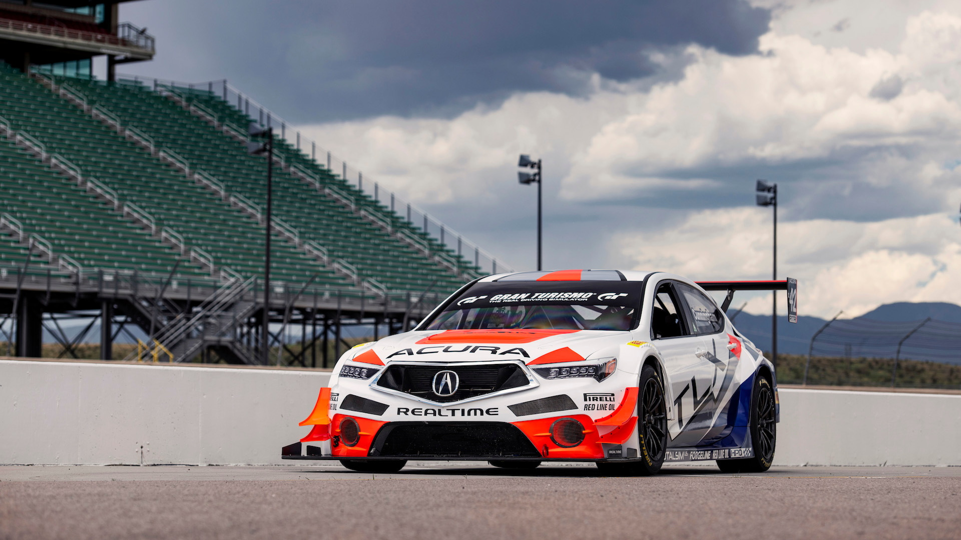 RealTime Racing Acura TLX GT Pikes Peak Hill Climb race car