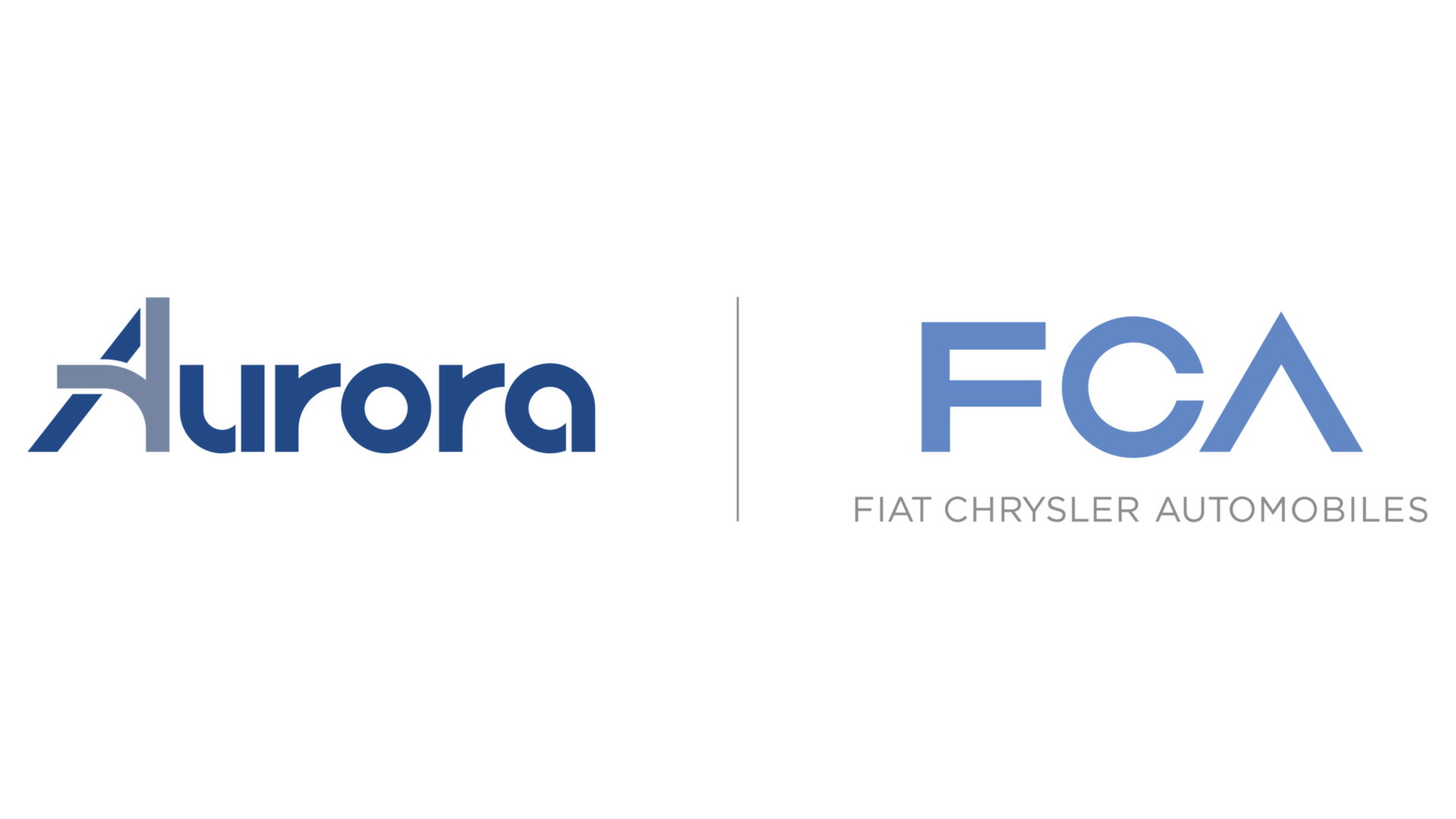 Aurora logo and Fiat Chrysler Automobiles logo