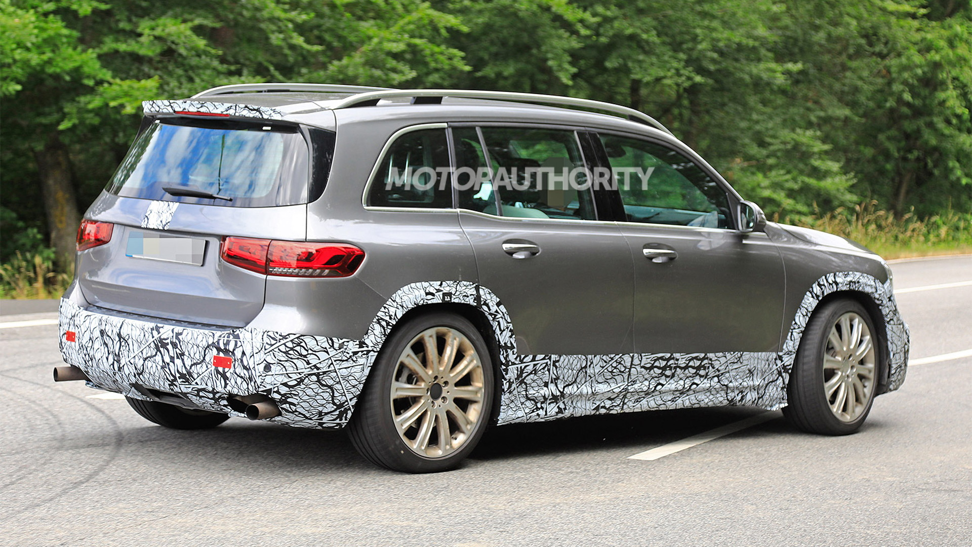 2021 Mercedes-AMG GLB45 spy shots - Photo credit: S. Baldauf/SB-Medien