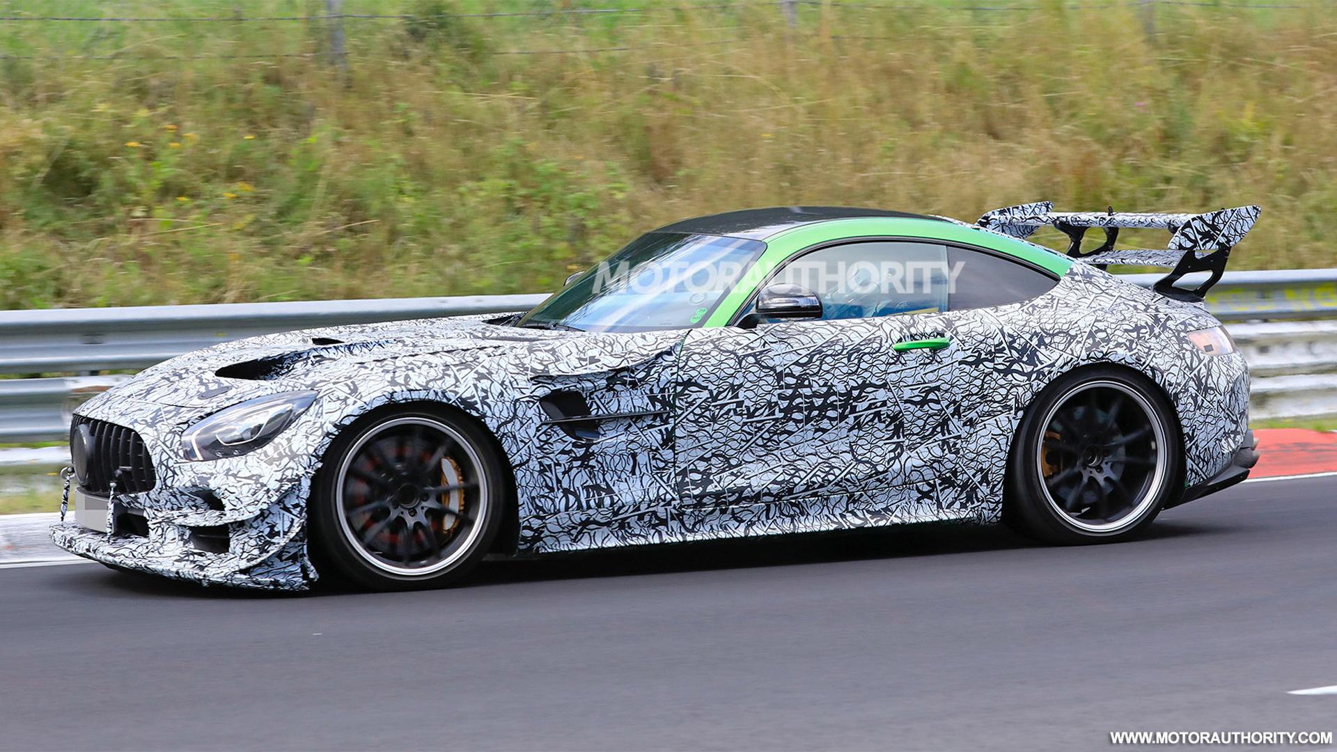 2021 Mercedes-AMG GT Black Series spy shots - Photo credit: S. Baldauf/SB-Medien