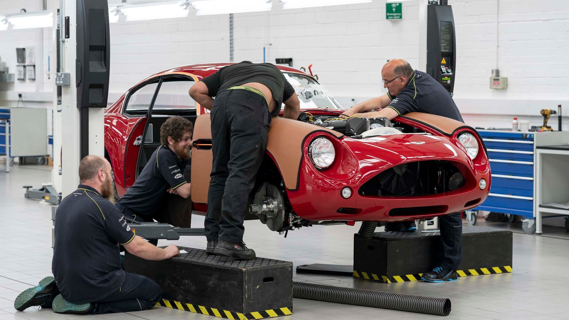 Production of bodies for Aston Martin DB4 GT Zagato continuation models