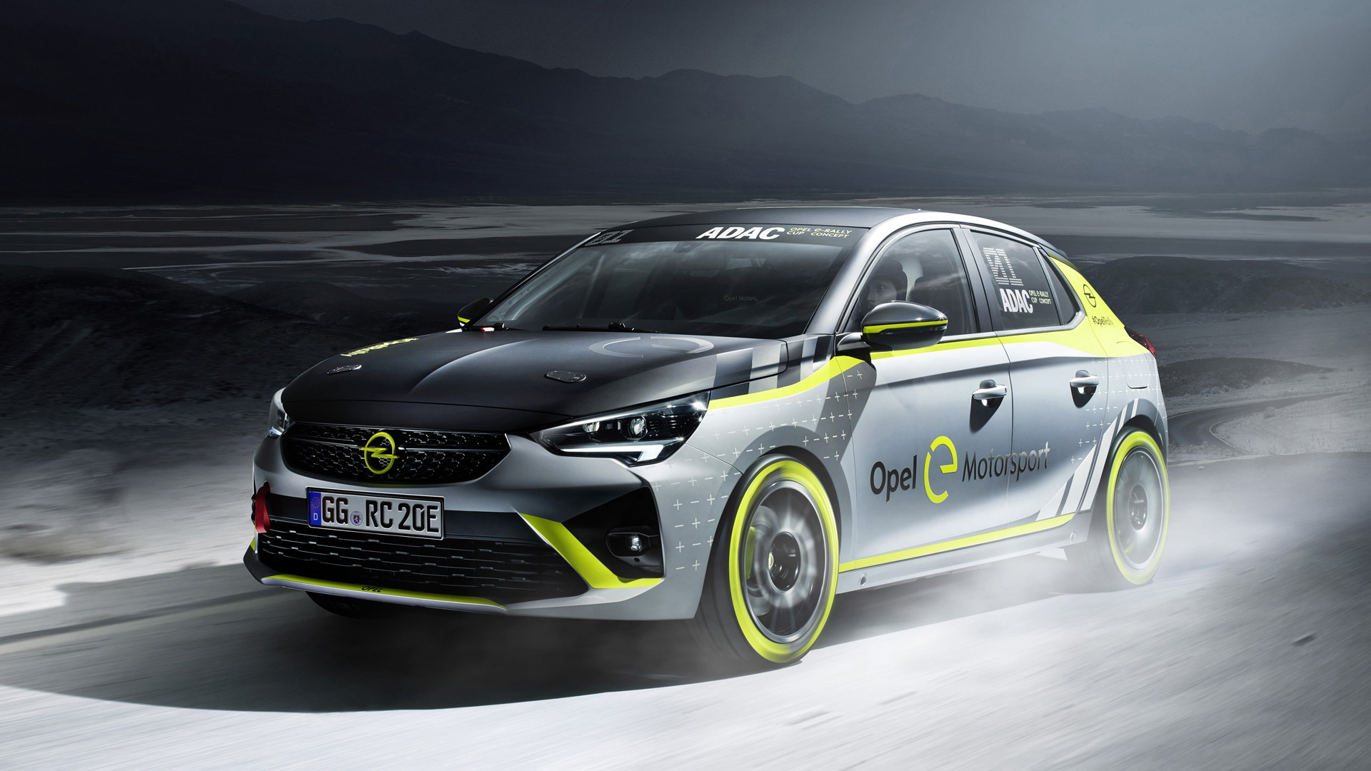 2020 Opel Corsa-e ADAC Opel e-Rally Cup electric rally car