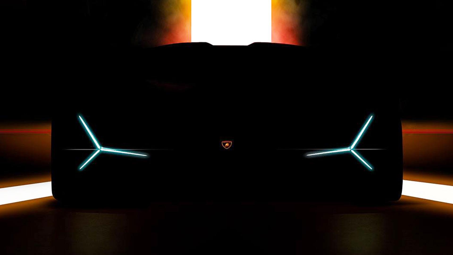 Teaser for new Lamborghini debuting at 2019 Frankfurt auto show