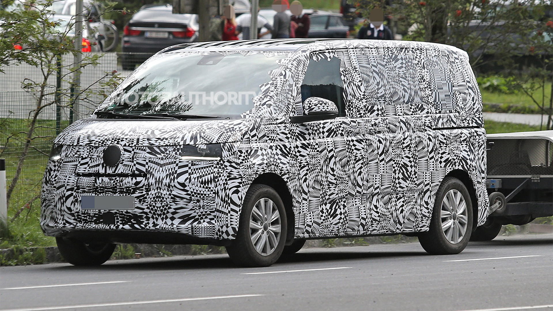 2021 Volkswagen Transporter (T7) spy shots - Photo credit: S. Baldauf/SB-Medien