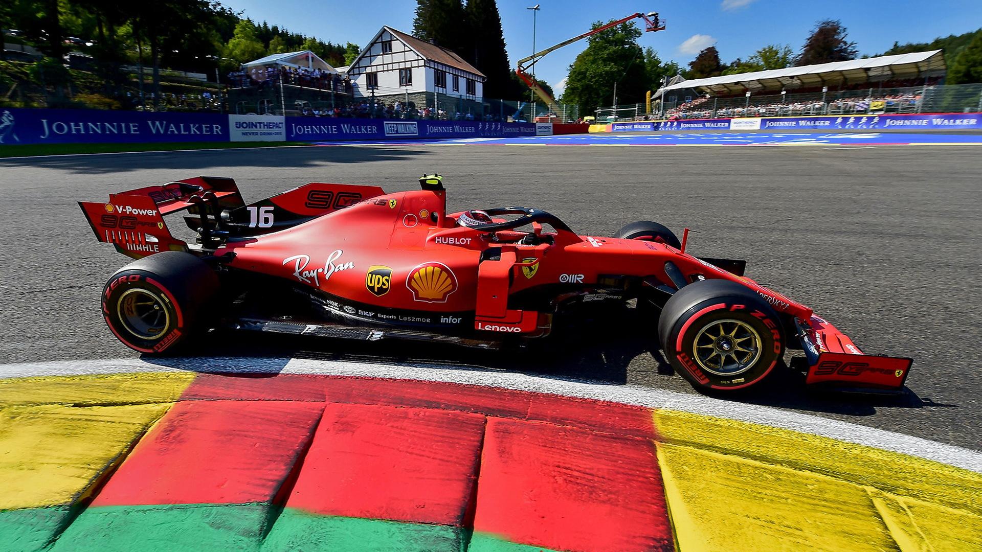 Ferrari's Charles Leclerc at the 2019 Formula One Belgian Grand Prix