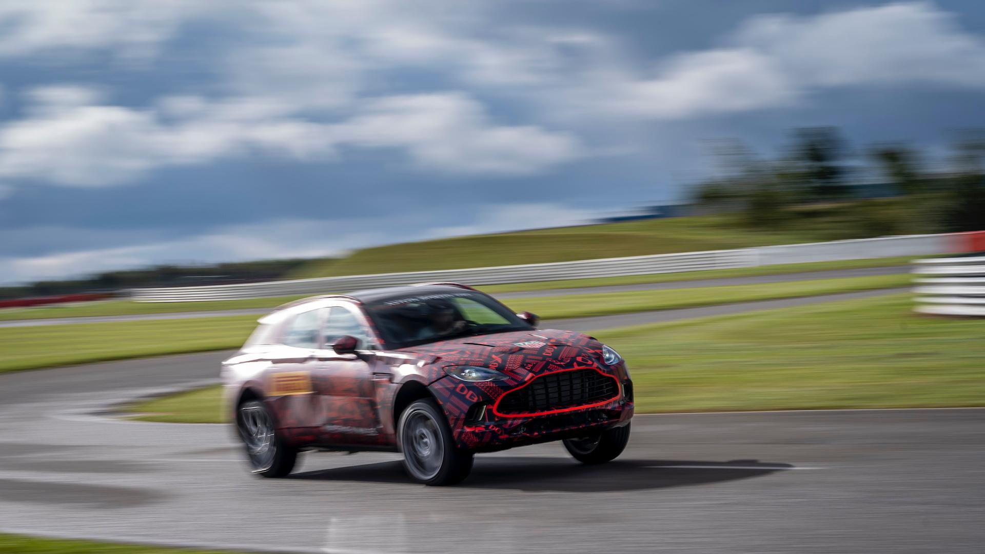 Teaser for Aston Martin DBX debuting in December 2019