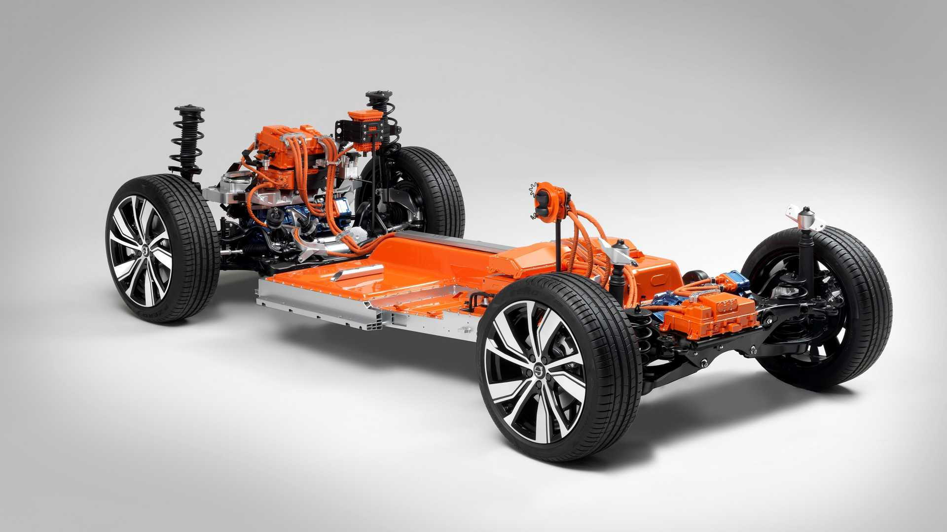 Electric Volvo XC40's powertrain