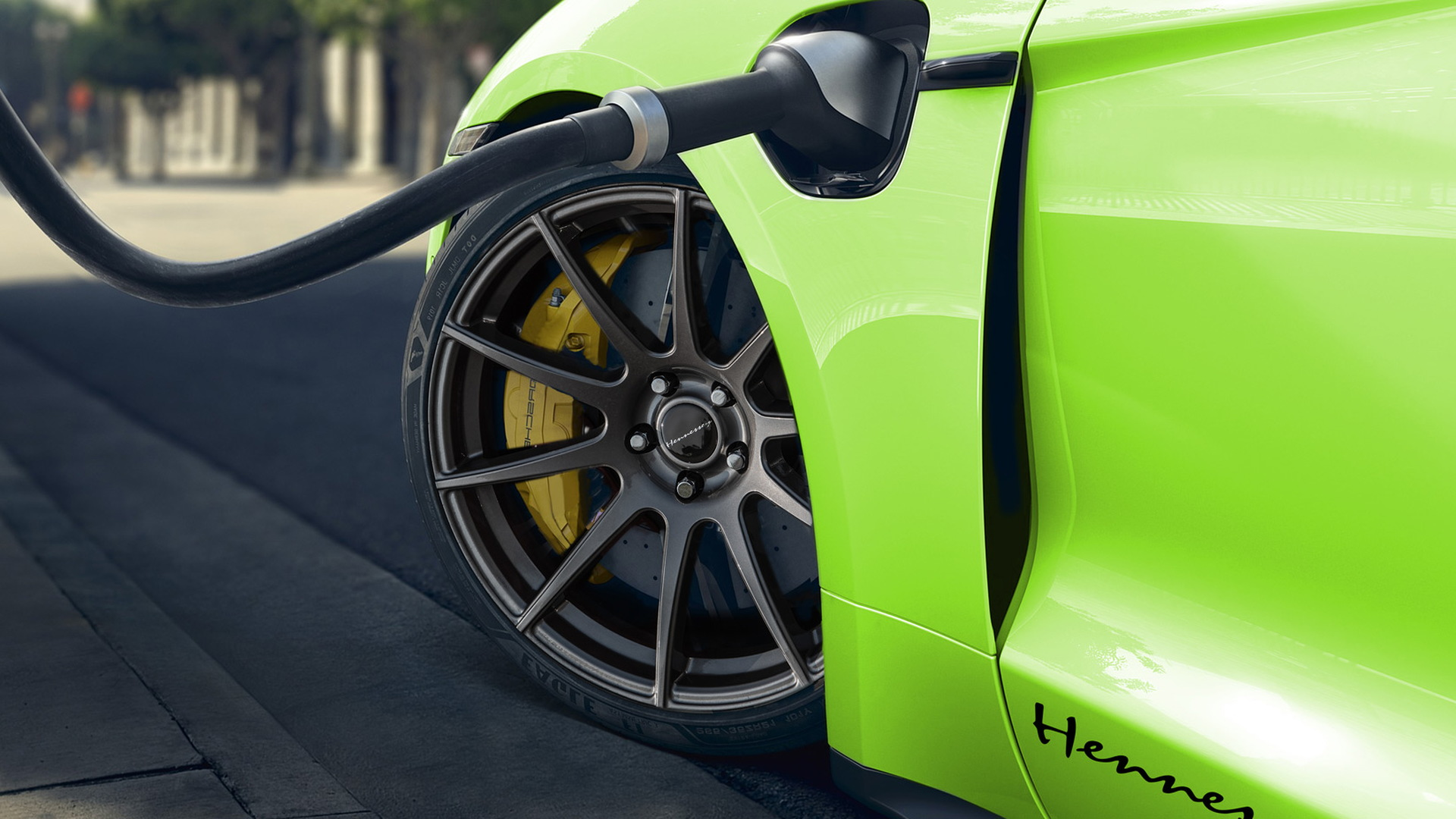 Teaser for Porsche Taycan by Hennessey