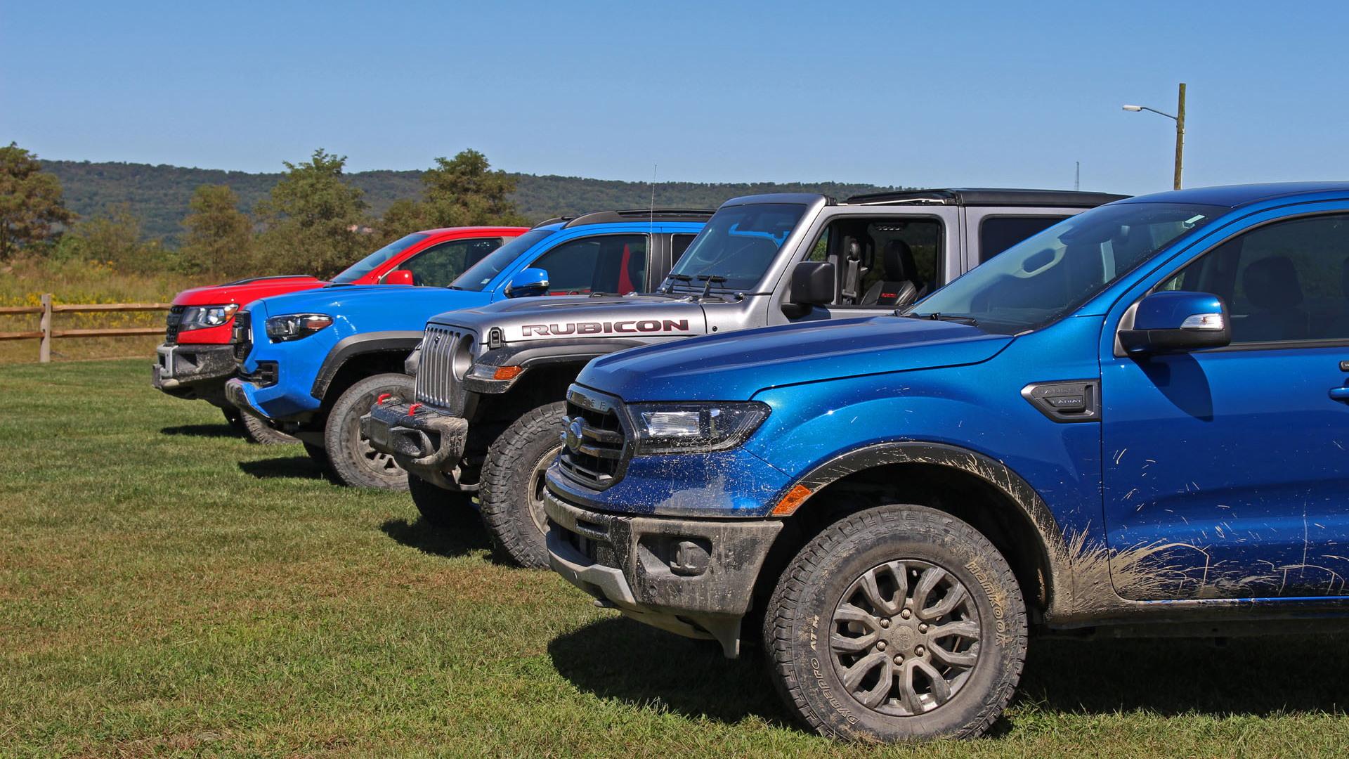 Midsize truck 4x4 comparison