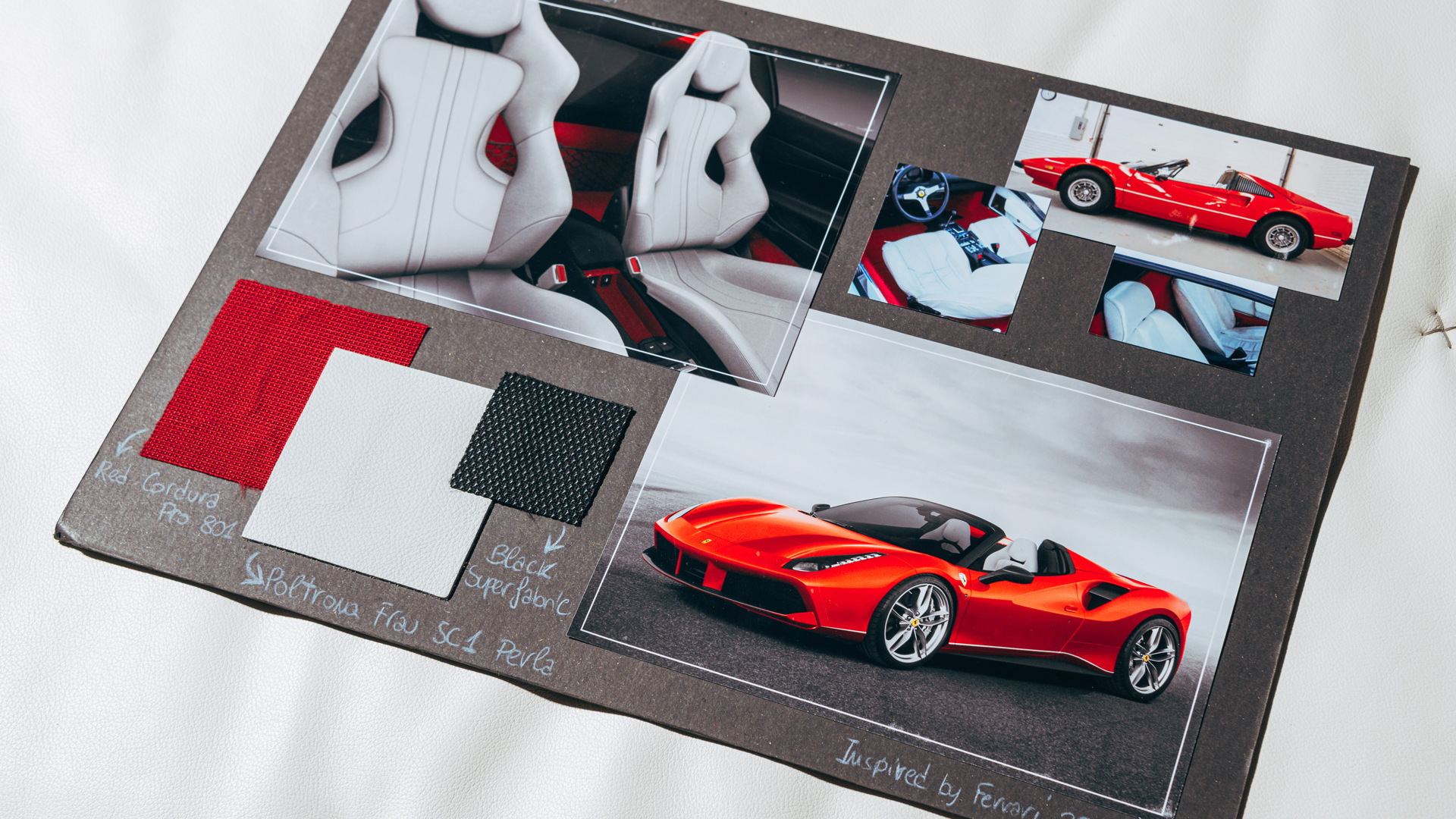Ferrari Tailor Made mood board