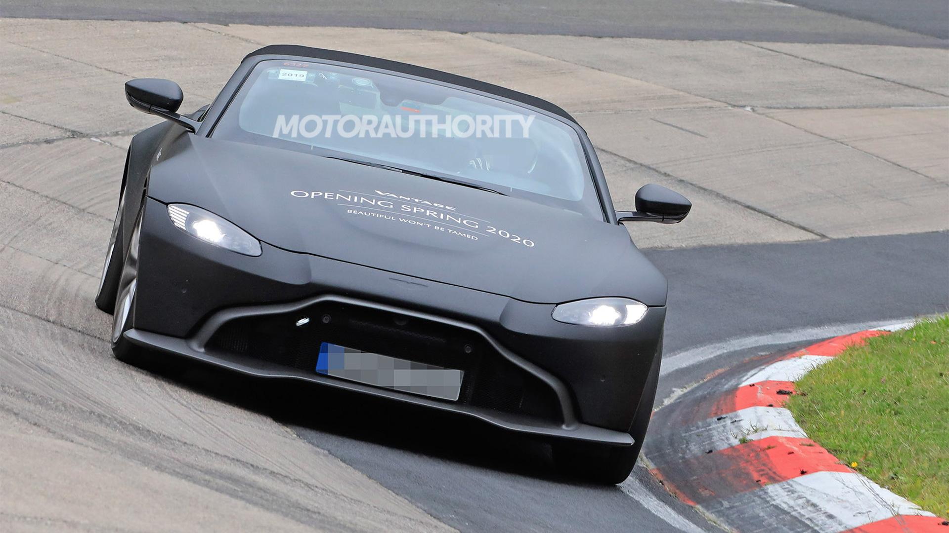 2020 Aston Martin Vantage Roadster spy shots - Photo credit: S. Baldauf/SB-Medien