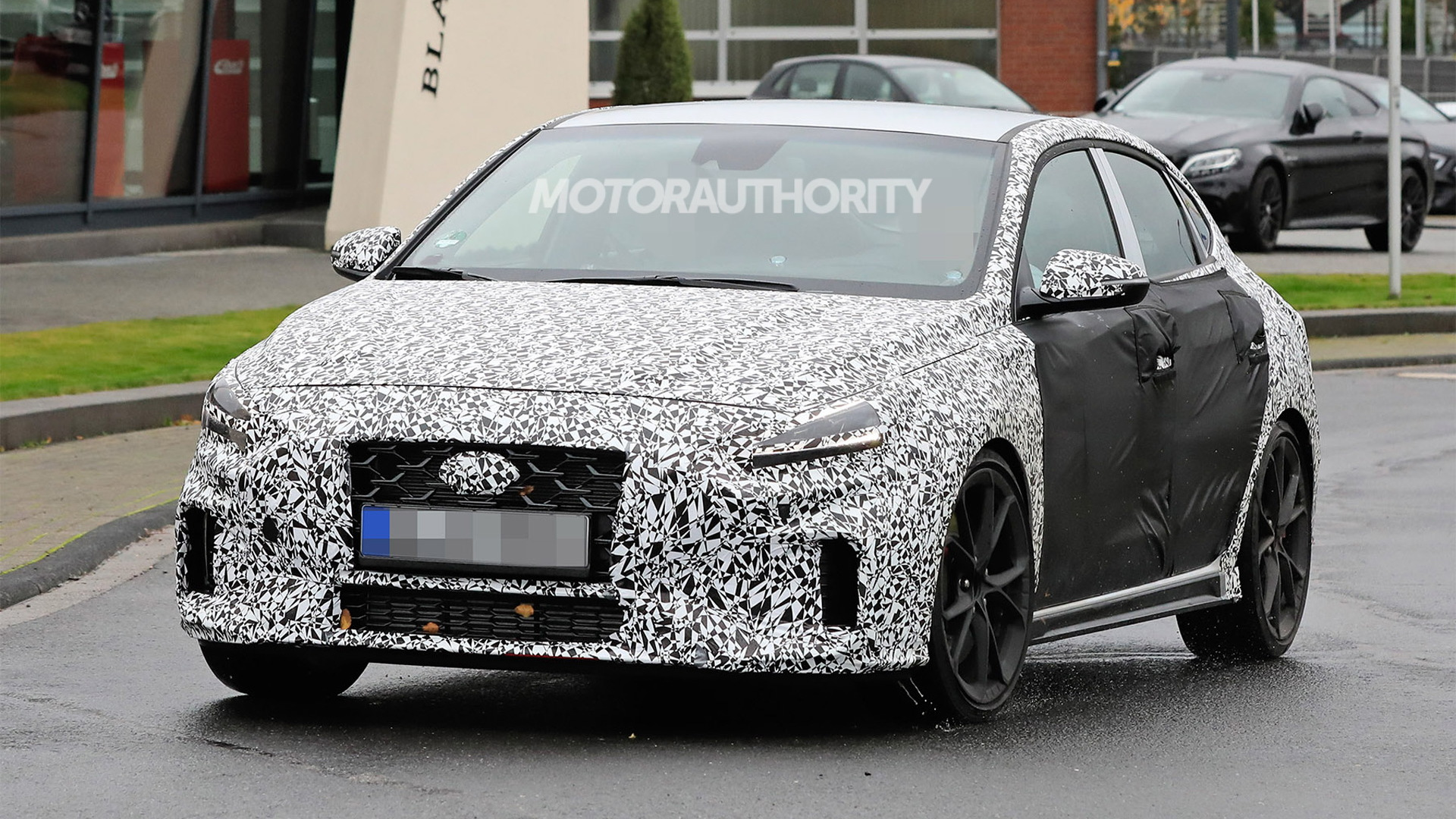2021 Hyundai i30 Fastback N facelift spy shots - Photo credit: S. Baldauf/SB-Medien