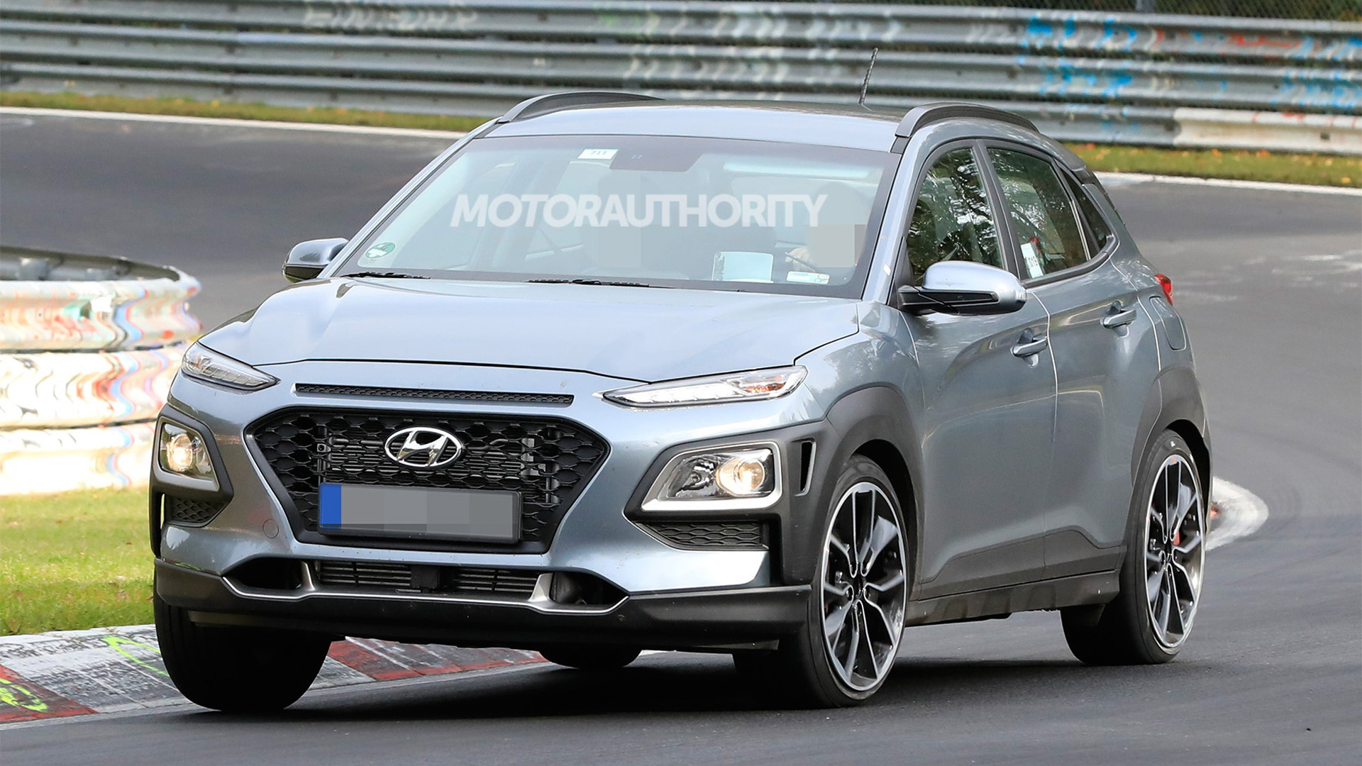 2022 Hyundai Kona N test mule spy shots - Photo credit: S. Baldauf/SB-Medien