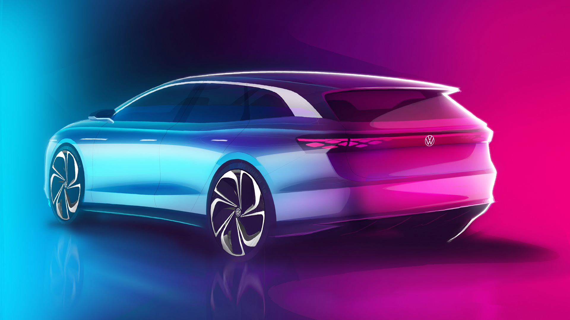 Teaser for Volkswagen ID Space Vizzion concept debuting on November 19, 2019