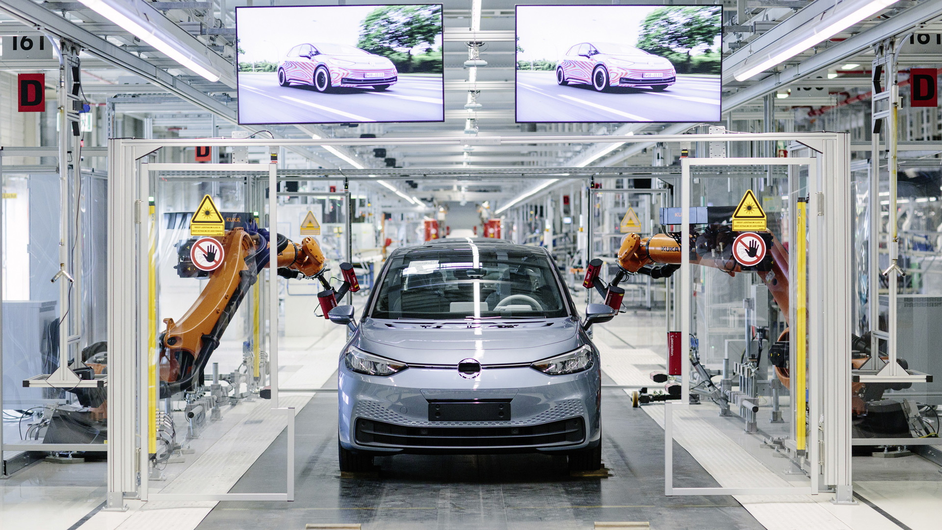 2020 Volkswagen ID 3 production at plant in  Zwickau, Germany