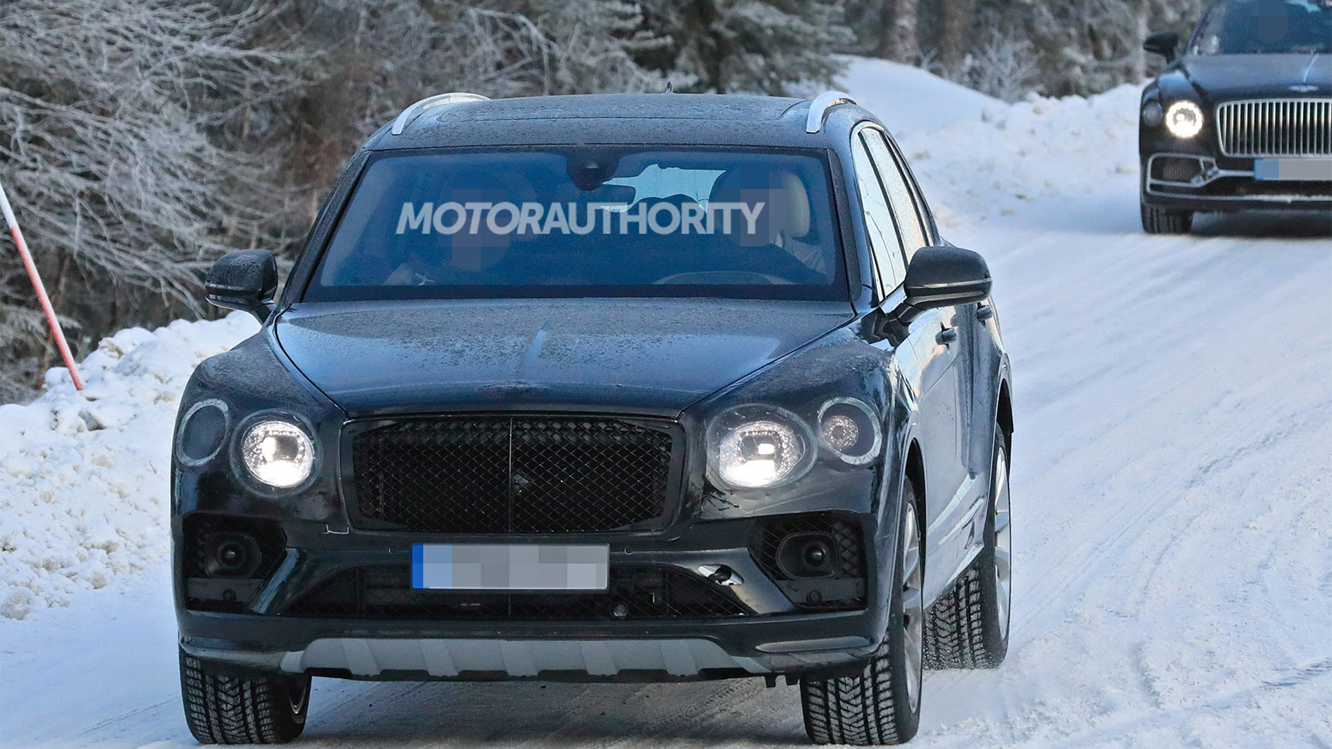 2021 Bentley Bentayga facelift spy shots - Photo credit: S. Baldauf/SB-Medien