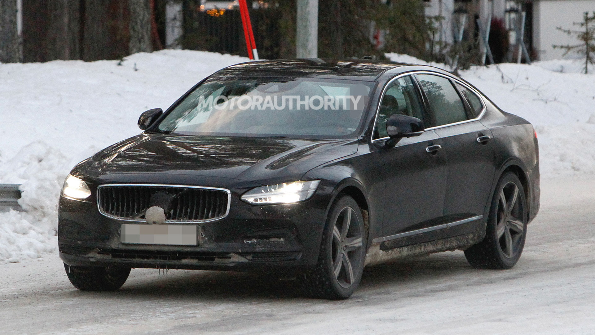 2021 Volvo S90 facelift spy shots - Photo credit: S. Baldauf/SB-Medien