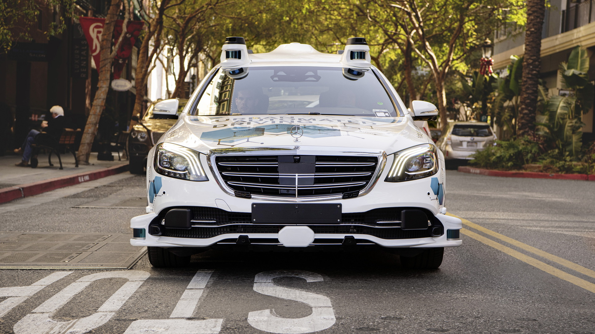 Daimler and Bosch self-driving car prototype in Silicon Valley