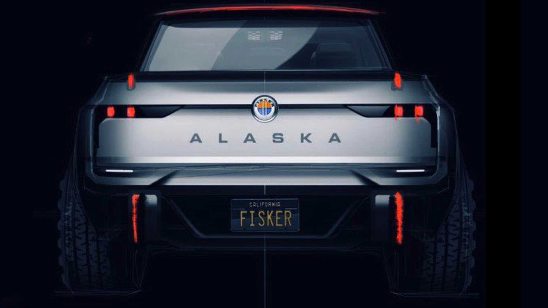 Computer-generated image of Fisker Alaska pickup truck - Photo credit: Henrik Fisker/Twitter
