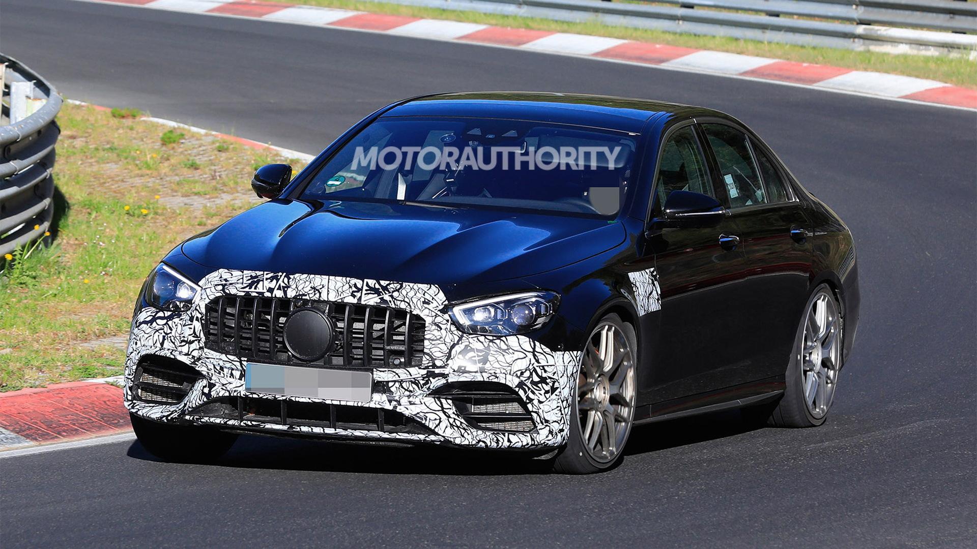 2021 Mercedes-AMG E63 facelift spy shots - Photo credit: S. Baldauf/SB-Medien
