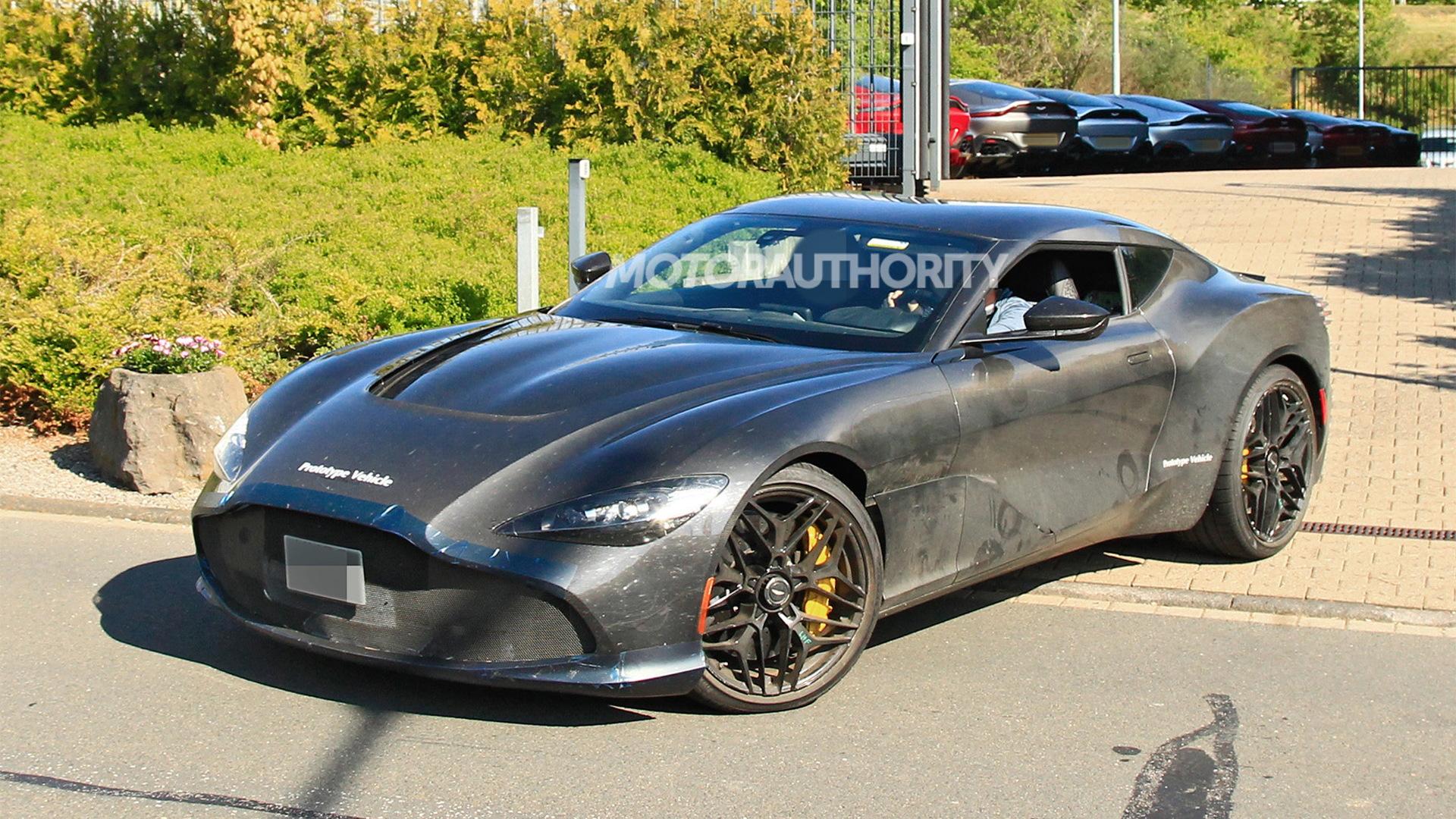 Aston Martin DBS GT Zagato spy shots - Photo credit:S. Baldauf/SB-Medien