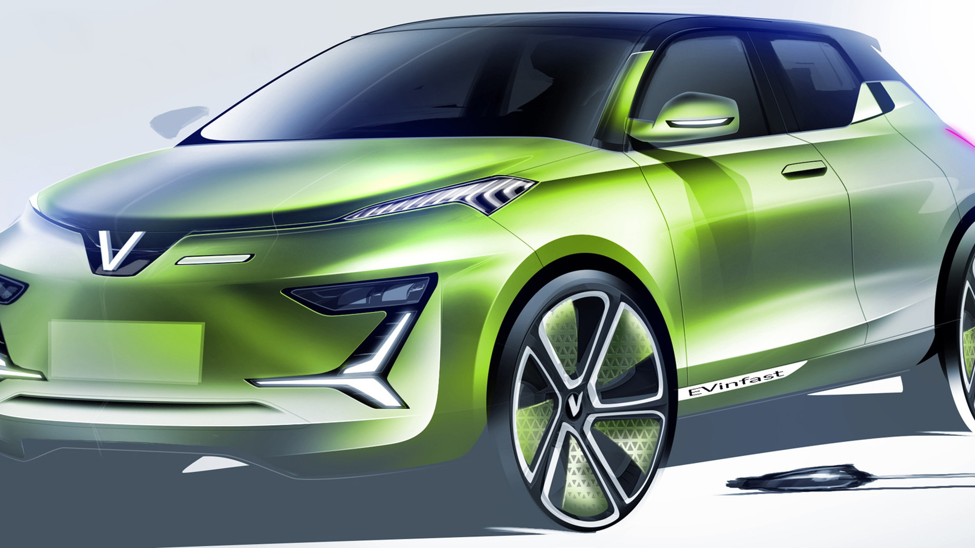 Italdesign proposal sketch for Vinfast electric crossover SUV