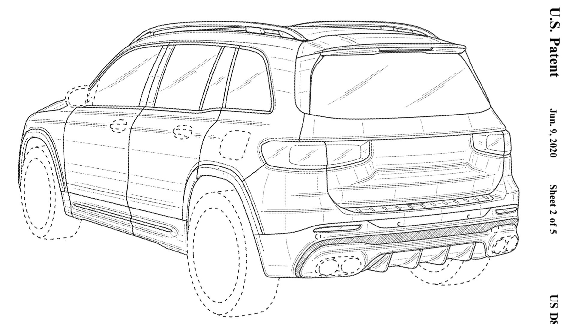 Likely 2021 Mercedes-AMG GLB 45 shown in patent filing