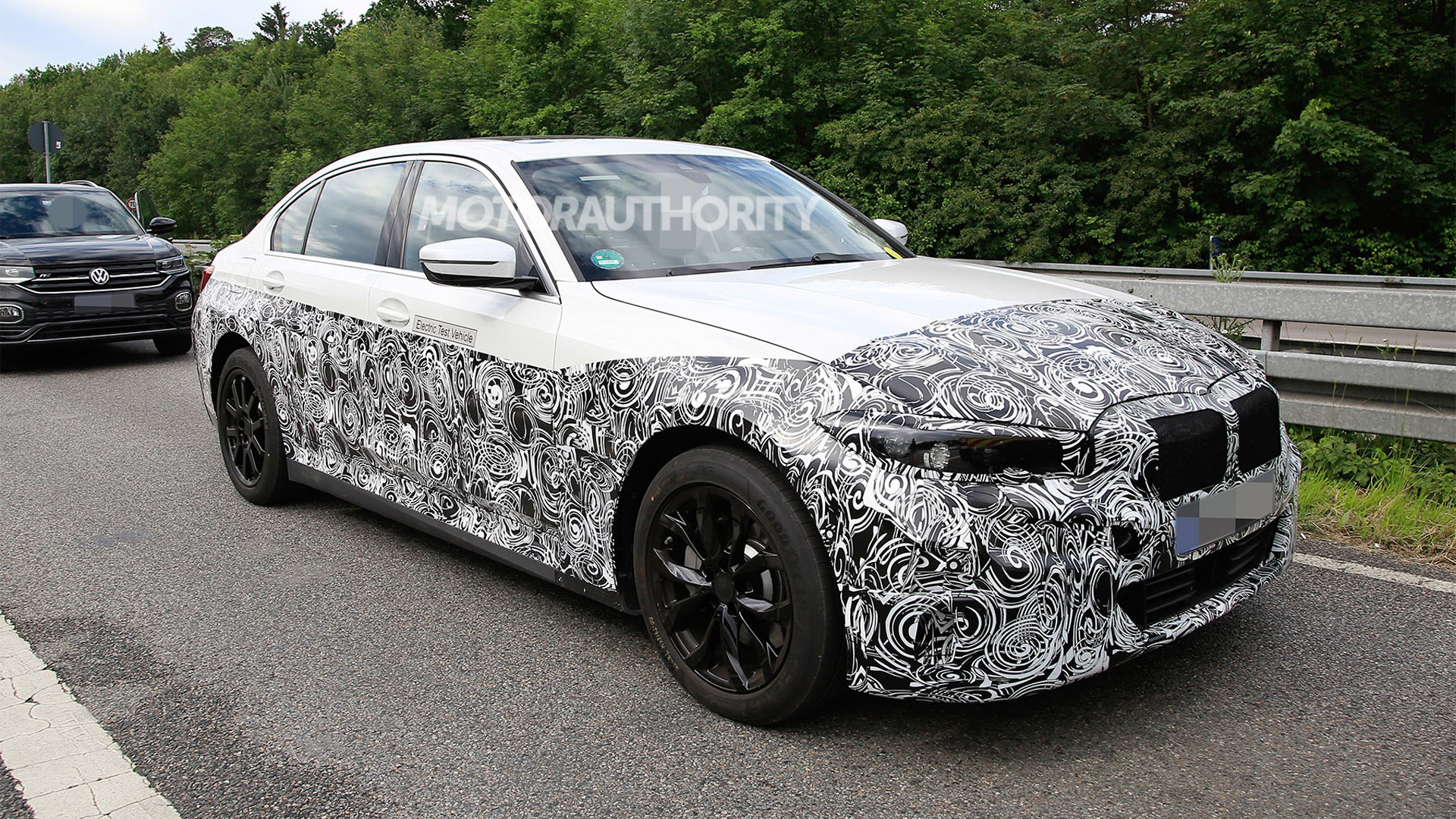 2022 BMW 3-Series with battery-electric powertrain - Photo credit: S. Baldauf/SB-Medien