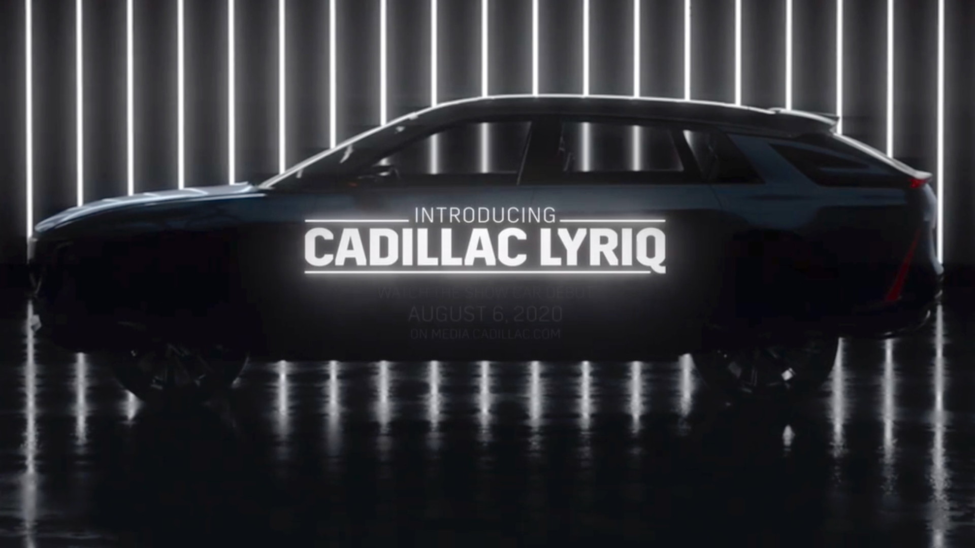 Cadillac Lyriq silhouette  -  from teaser video, June 2020