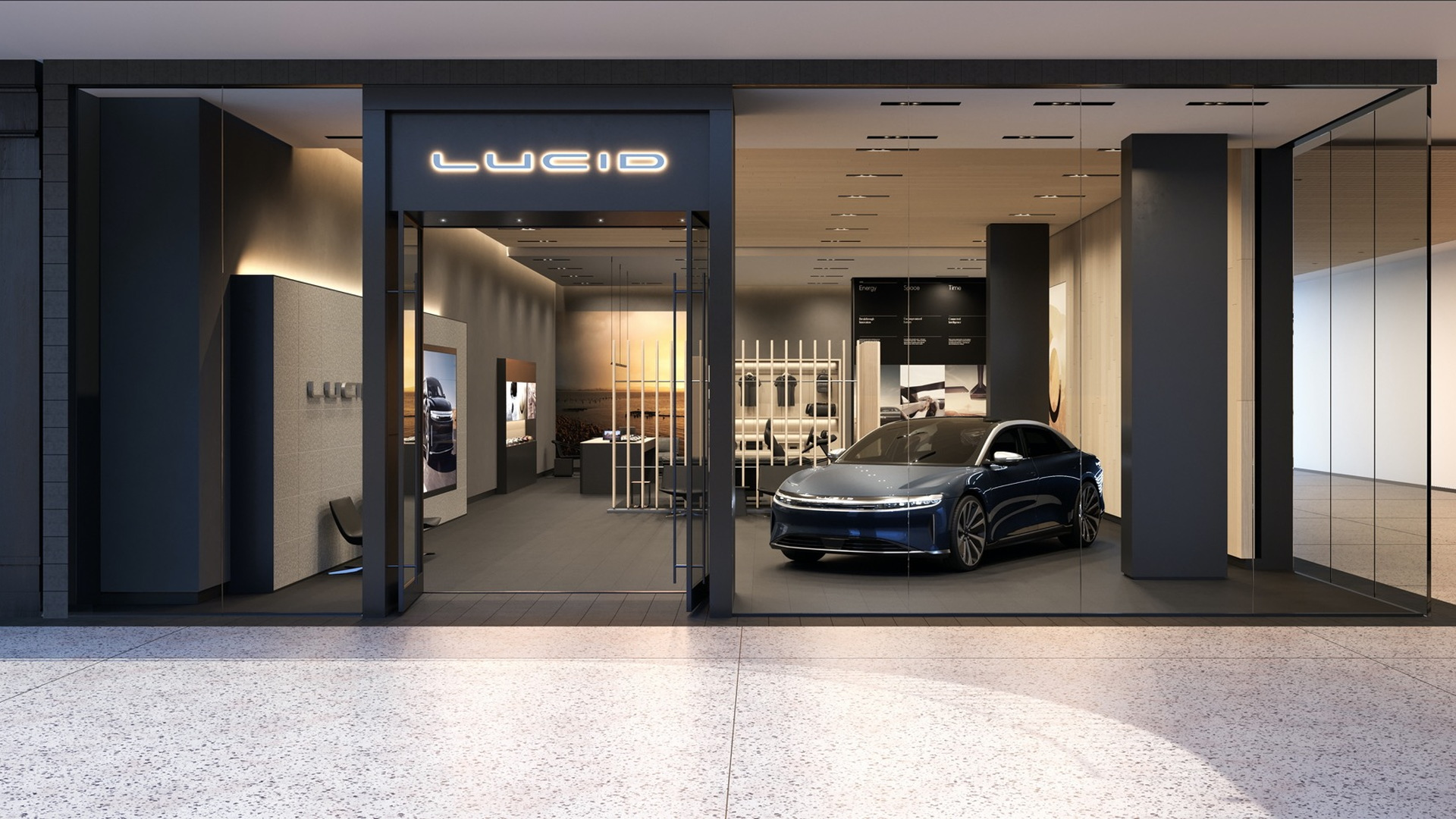 Lucid Studio  -  rendering of future store