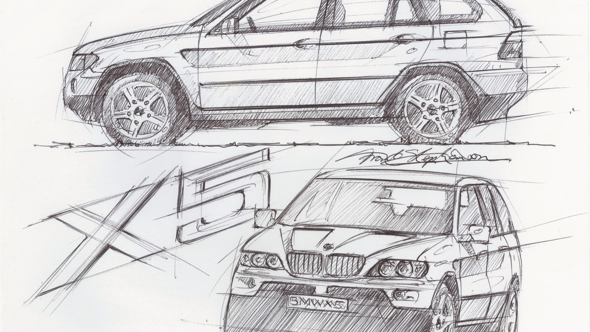 Frank Stephenson BMW X5 sketch