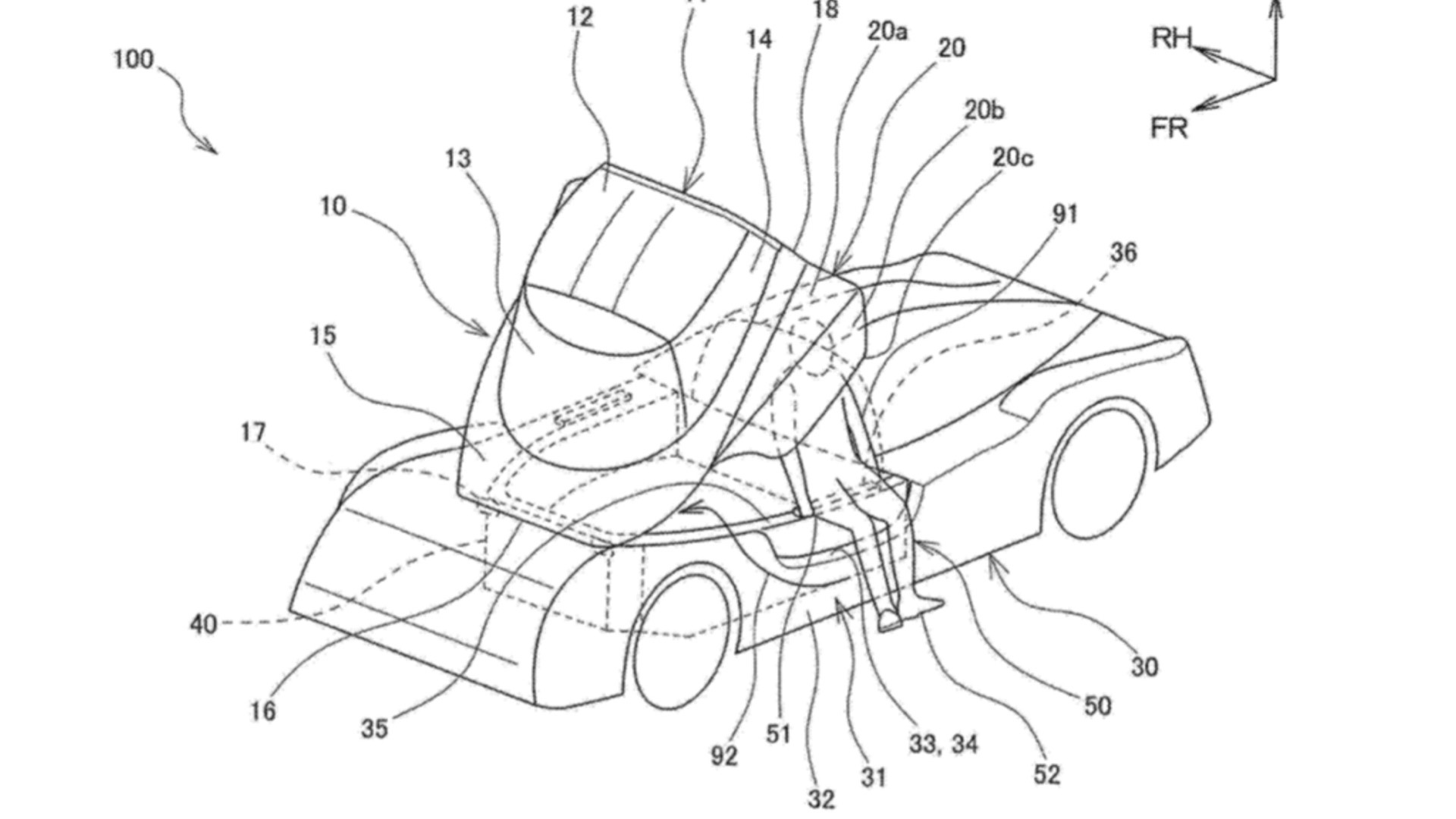Toyota GR Super Sport canopy patent image