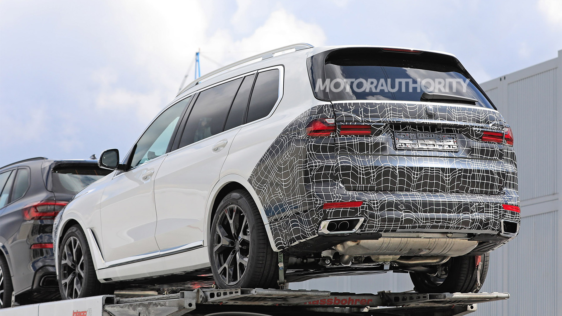 2023 BMW X7 spy shots: 7-Series styling in the cards for flagship SUV