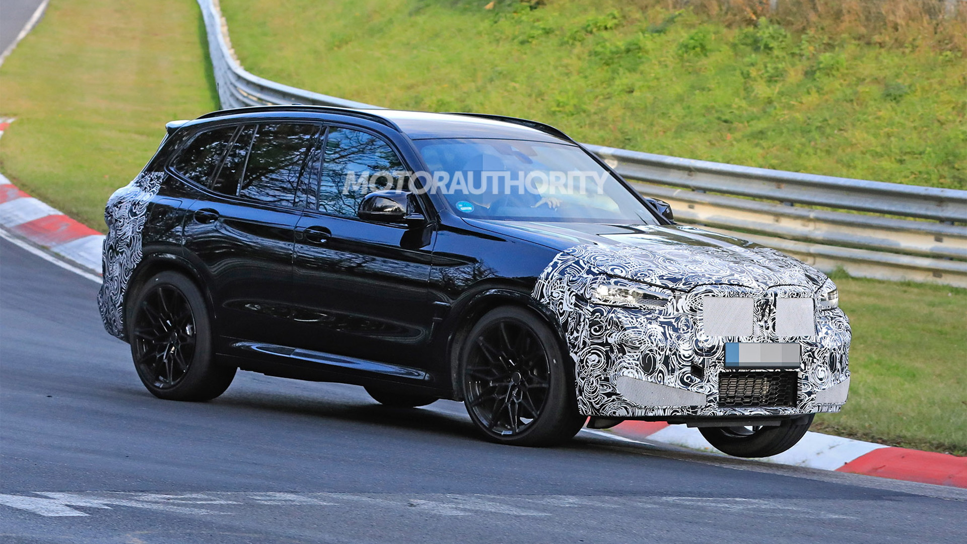 2022 BMW X3 M facelift spy shots - Photo credit: S. Baldauf/SB-Medien